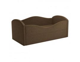 Детская кровать Сказка - Вельвет коричневый цвет