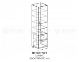 шкаф пенал высокий ШПВ2Я 600 МР