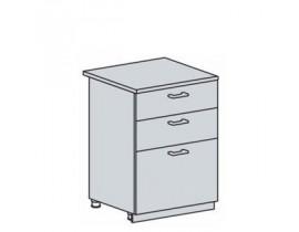 Квадро Лофт ШН3Я-600 шкаф нижний с тремя ящиками