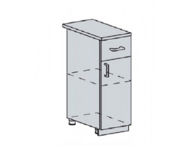 Квадро Лофт ШН1Я-400 шкаф нижний с одним ящиком