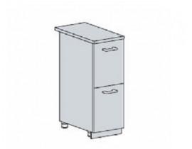 Квадро Лофт ШН2Я-300 шкаф нижний с двумя ящиком