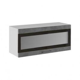 ЛОФТ ДСВ ШВГСФ-800 шкаф навесной горизонтальный со стеклом и фотопечатью
