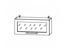 Квадро Лофт ШВГС-800 шкаф навесной горизонтальный со стеклом