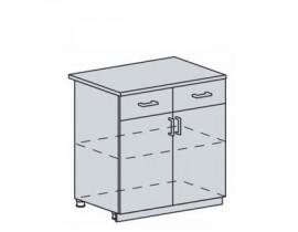 Квадро Лофт ШН1Я-800 шкаф нижний с одним ящиком