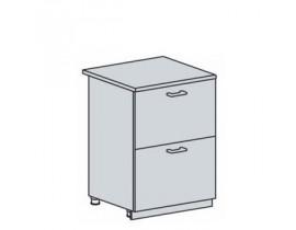 Квадро Лофт ШН2Я-600 шкаф нижний с двумя ящиком