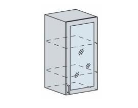 Квадро Лофт ШВВС-500 шкаф верхний высокий со стеклом