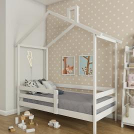 Детская кровать Домик из массива Sweet roof 1600х800
