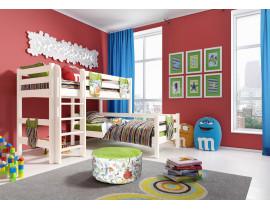 Вариант 7 Угловая кровать Соня с прямой лестницей