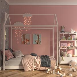 Детская  кровать из массива домик Light House 1600х800