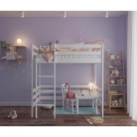Детская кровать чердак из массива домик Sweet top 1600х800