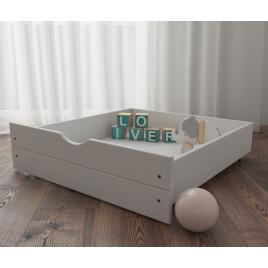 Ящик выдвижной на колесиках для кроватей из массива сосны Восток