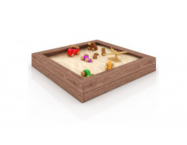 Песочница деревянная Персия, 120х120х19 см