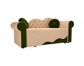 Детская кровать Тедди-2 (Вельвет бежевый зеленый )