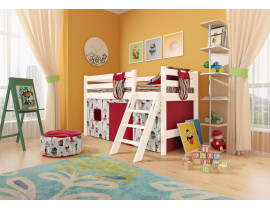 Вариант 12 Низкая кровать Соня с наклонной лестницей
