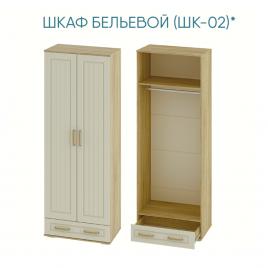 ШКАФ ДВУХСТВОРЧАТЫЙ БЕЛЬЕВОЙ МАРКИЗА ШК-02