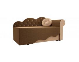 Детская кровать Тедди-1 (Вельвет коричневый бежевый)