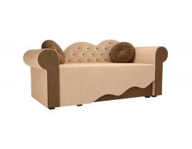 Детская кровать Тедди-2 (Вельвет бежевый коричневый)