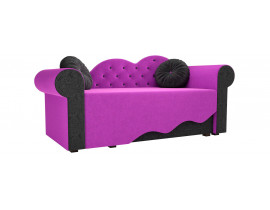 Детская кровать Тедди-2 (Вельвет фиолетовый черный)