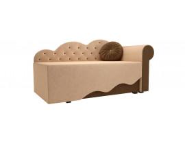Детская кровать Тедди-1 (Вельвет бежевый коричневый)