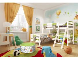 Вариант 8 Угловая кровать Соня с наклонной лестницей