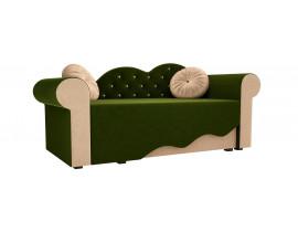 Детская кровать Тедди-2 (Вельвет зеленый бежевый)