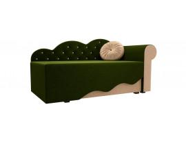 Детская кровать Тедди-1 (Вельвет зеленый бежевый)