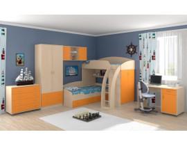 Кровать Соня-1+2+3 Оранжевый