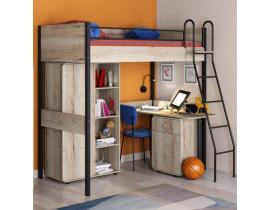 Комплект мебели для детской Дельта Лофт черный и светлый дуб