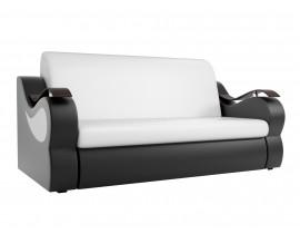 Прямой диван Меркурий эко кожа белый черный