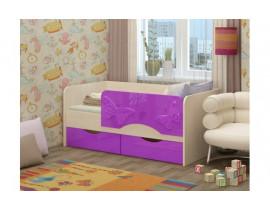 Односпальная детская кровать Бабочки 1,8 м