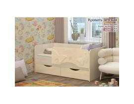 Односпальная детская кровать Бабочки 1,6 м