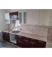 Кухня Ксюша бордо-белый