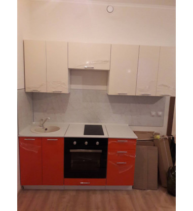 Кухня Ксюша Оранж-белый