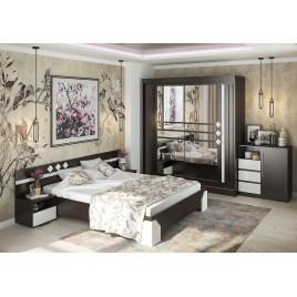 Модульный спальный гарнитур Софи венге белый глянец