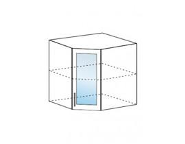 шкаф верхний угловой со стеклом 600х600 ШВУС600