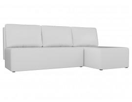 Угловой диван Поло эко кожа белый