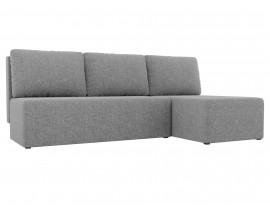 Угловой диван Поло рогожка серый