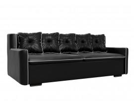 Прямой диван Витаре эко кожа черный