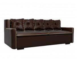 Прямой диван Витаре эко кожа коричневый