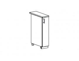 Кухня Ницца шкаф нижний бутылочница 200 мм