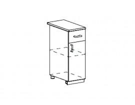 Модульная Кухня Ницца шкаф нижний с ящиком 300 мм