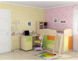 Кровать-чердак Дюймовочка-1 Мультицвет