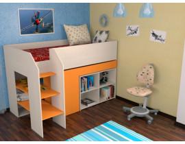 Кровать-чердак Теремок-2 Оранжевый