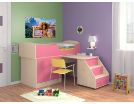 Кровать-чердак Дюймовочка-2 Розовый