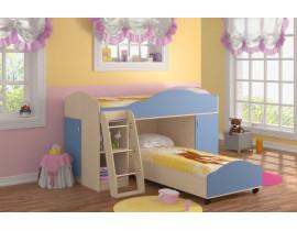 Кровать-чердак Дюймовочка-5 Набор 1 Голубой