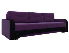Диван Ник-3 - Фиолетовый+Черный
