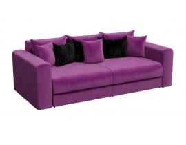 Диван Мэдисон - Вельвет Люкс Фиолетовый подушки черные