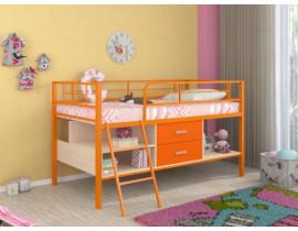 Кровать-чердак Севилья - Мини оранжевая