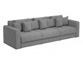 Прямой диван Мэдисон Long - Рогожка серый