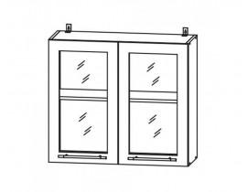 ГРАНД ШВС-800 шкаф навесной со стеклом